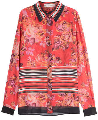 Mary Katrantzou Printed Silk Blouse