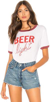 Chaser Beer Crew Neck Ringer Tee