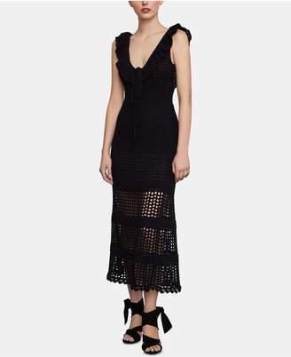BCBGMAXAZRIA Crochet Midi Dress