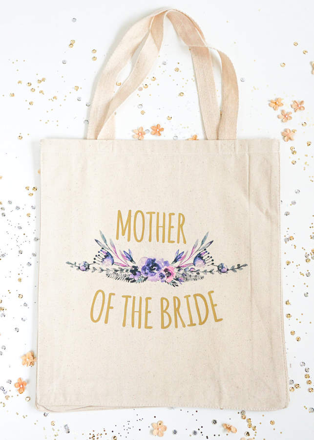 Etsy Mother of the Bride Gift Bag, Bridal Party Totes, Mother of the Groom Tote, Wedding Totes, MOTG, MOT