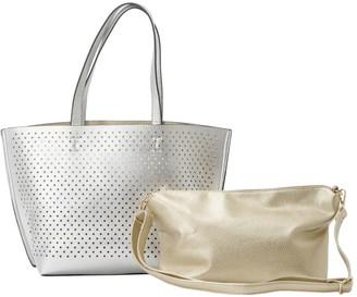 Lumi Un Billion UN Billion Metallic Tote with Crossbody Handbag
