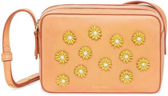 Mansur Gavriel Floral-Embellished Crossbody Bag