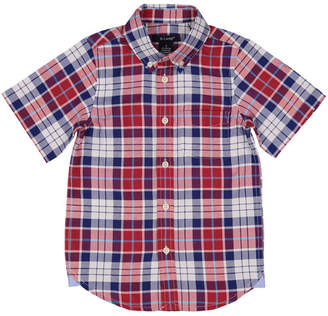 E-Land Boys' Plaid Woven Shirt