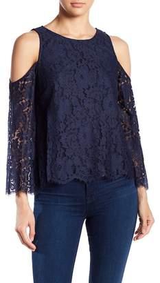 Joie Abay Cold Shoulder Lace Blouse