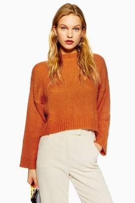 Topshop **Fluffy Crop Knitted Jumper by Native Youth