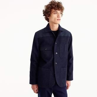 J.Crew Wallace & Barnes wool norfolk jacket