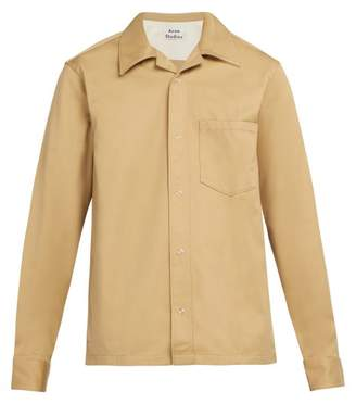 Acne Studios Long Sleeved Cotton Blend Shirt - Mens - Beige