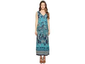 Fuzzi Long Reversible Batik Dress Cover-Up Women's Dress