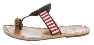 Christian Louboutin Striped Espadrille Sandals