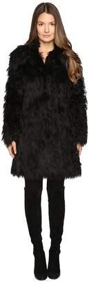 Jeremy Scott Faux Mongolia Long Coat Women's Coat