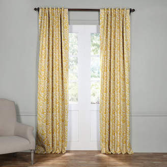 Three Posts Adelaide Damask Blackout Thermal Rod Pocket Single Curtain Panel