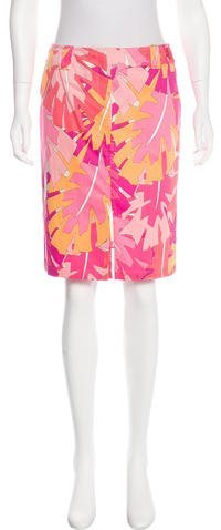 Emilio Pucci Printed Knee-Length Skirt w/ Tags