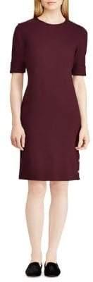 Lauren Ralph Lauren Petite Button-Trimmed Ponte Dress