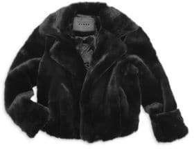 Blank NYC Girl's Faux-Fur Coat
