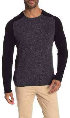 Autumn Cashmere Two Color Saddle Shoulder Sweater