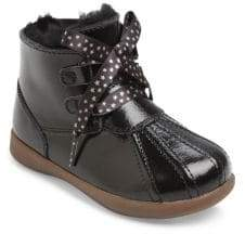 UGG Girl's Comfort Payten Stars Patent Leather & Shearling Booties