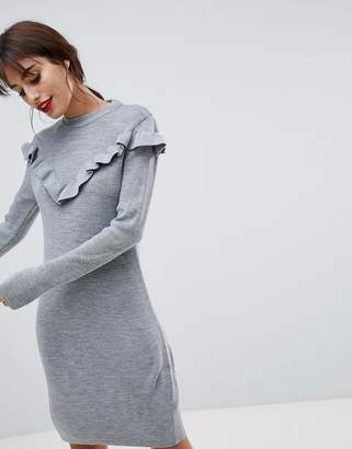 Vila Ruffle Sweater Dress