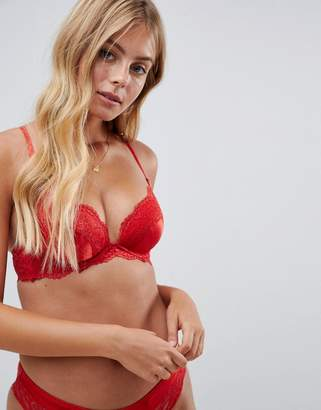 New Look Satin And Lace Push-Up Bra