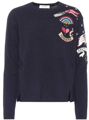 Valentino Beaded wool and cashmere sweater
