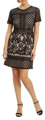 Dex Crochet Contrast Lining Dress