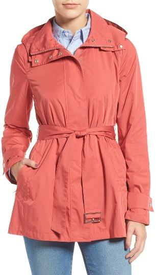 Cole Haan Women's Cole Haan Packable Belted Rain Coat