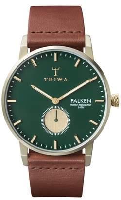 Triwa Pine Falken Organic Leather Strap Watch, 38mm