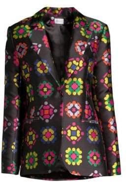 Milly Printed Blazer Jacket
