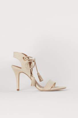 H&M Sandals with Ties - Beige