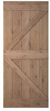 URBAN RESEARCH Calhome Knotty Solid Wood Panelled Alder Slab Interior Barn Door