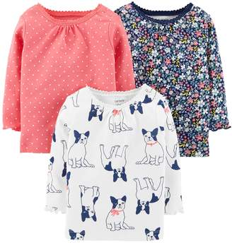 Carter's Baby Girl 3-pack Long Sleeve Shirts