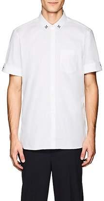 Neil Barrett Men's Military Stars Cotton Chambray Shirt - White
