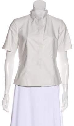 Pauw Short Sleeve Button-Up Top