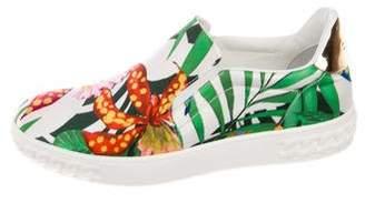 Casadei Satin Slip-On Sneakers