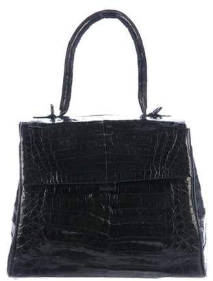 Nancy Gonzalez Structured Crocodile Satchel