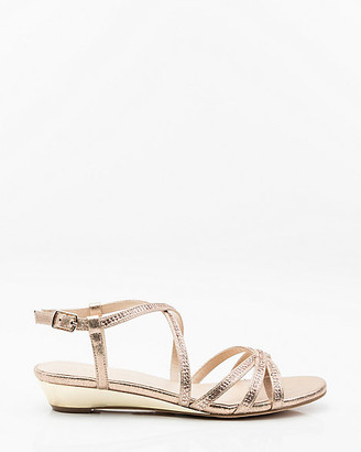 Le Château Jewel Embellished Strappy Wedge Sandal