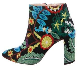 Stuart Weitzman Embroidered Floral Boots
