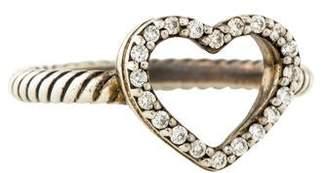 David Yurman Diamond Cable Collectibles Heart Ring