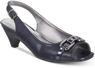 Karen Scott Arlena Slingback Peep-Toe Pumps, Created for Macy's Women's Shoes