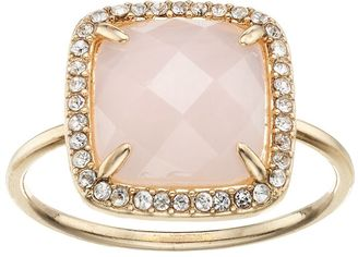 LC Lauren Conrad Pink Stone Halo Ring $18 thestylecure.com