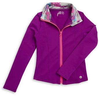 Jill Yoga Girls 7-16  Zip-Up Athletic Jacket