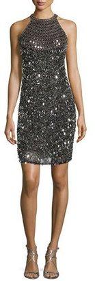 Parker Sleeveless Embellished Cocktail Dress, Black $515 thestylecure.com