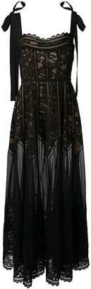 Elie Saab sheer lace dress