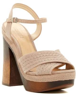 Schutz Edma Leather Platform Sandal