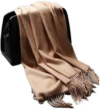 Junmei similar cashmere scarf women winter pure color shawl tassel wool scarf