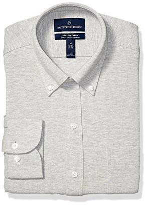 Buttoned Down Men's Slim Fit Supima Cotton Stretch Knit Dress Shirt