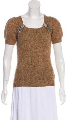 Gucci Cashmere-Blend Embellished Top w/ Tags