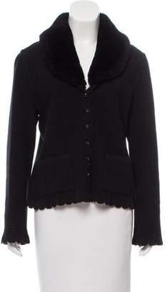 Sonia Rykiel Wool Shearling-Trimmed Jacket