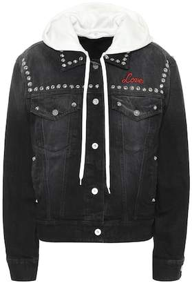 Miu Miu Embroidered denim jacket