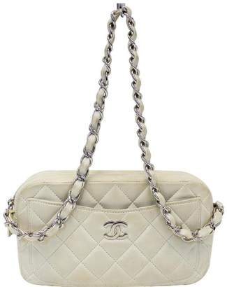 Chanel Wallet on Chain Camera Quilted Leather White Shoulder Bag