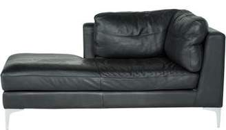 Design Within Reach Leather Chaise Lounge